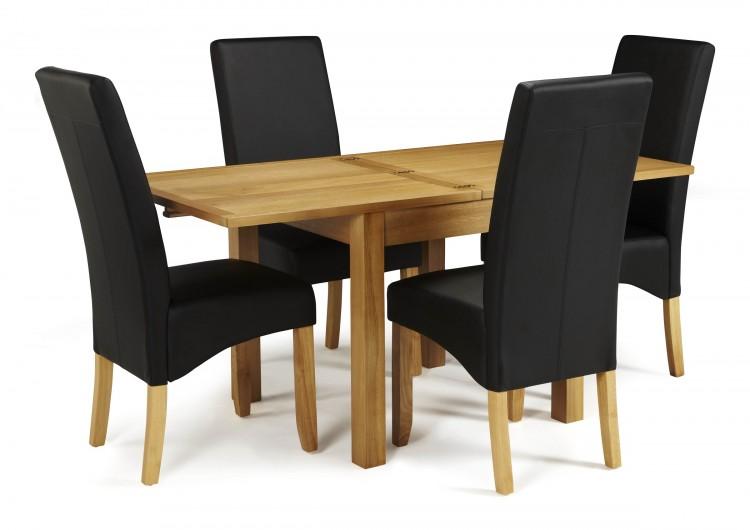 Serene Lambeth Extending Oak Dining Set With 4 Merton