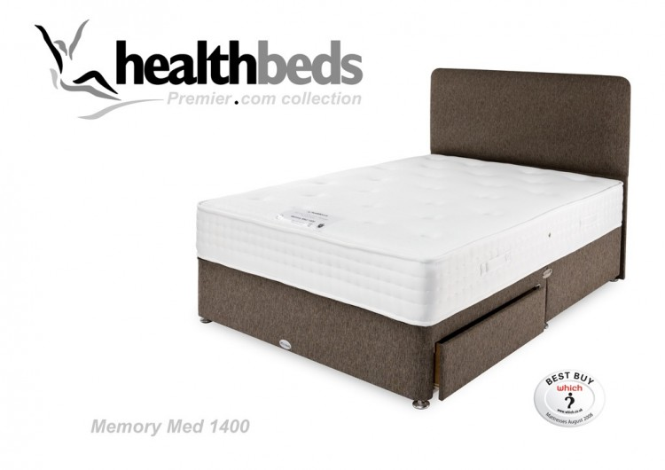 finest selection b3706 5d71d Healthbeds Memory Med 1400 2ft6 Small Single Bed by Healthbeds