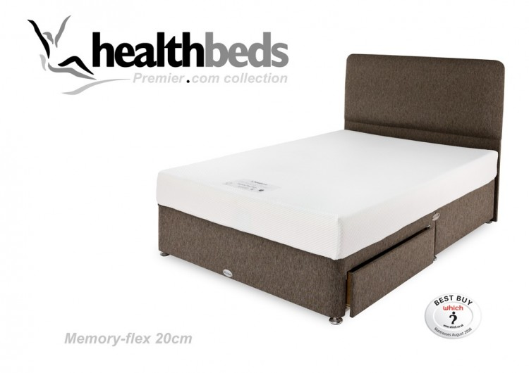Healthbeds Memory Flex 4ft Small Double Divan Bed By Healthbeds