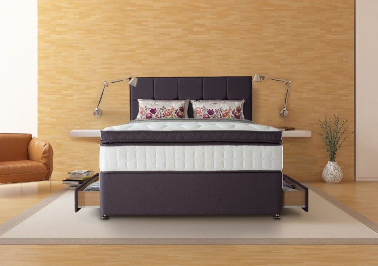 Sealy puglia 2600 pocket 6ft super kingsize divan bed by sealy for 6 foot divan