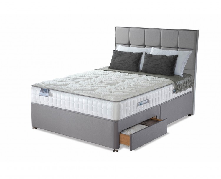 Sealy posturepedic jubilee latex 3ft single divan bed by sealy for 3 foot divan bed