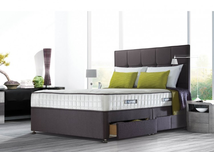 Sealy posturepedic jubilee ortho 4ft6 double divan bed by for Double divan bed with memory foam mattress