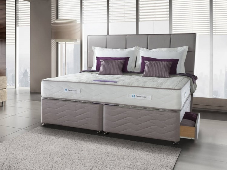 Sealy pearl ortho 4ft small double divan bed by sealy for Double divan bed with firm mattress