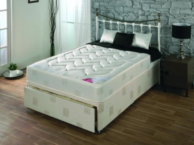 Repose milan 3ft single divan bed by repose for White single divan