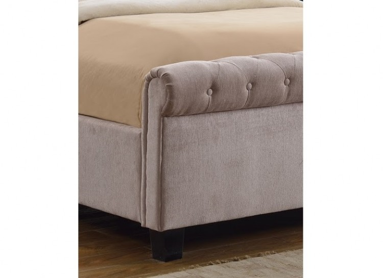 Flair Furnishings Lola 4ft6 Double Mink Fabric Ottoman Bed