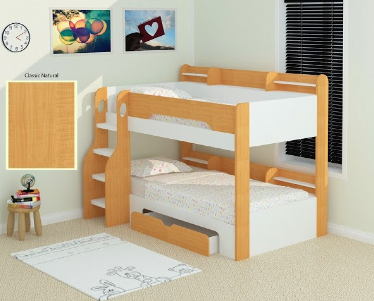 Flair Furnishings Flick Maple Bunk Bed By Flair Furnishings