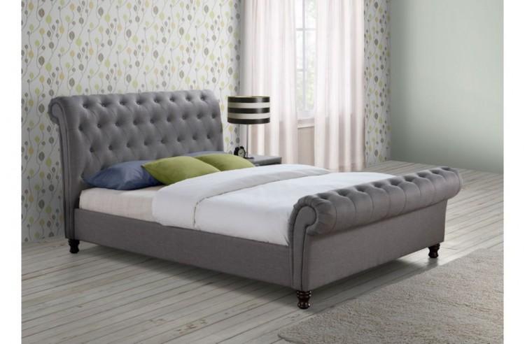 Dark Grey Bed Frame Bedroom