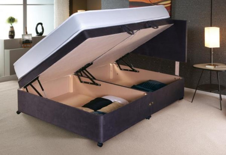 Incredible Vogue 4Ft Small Double Side Lift Ottoman Bed Base Choice Of Ibusinesslaw Wood Chair Design Ideas Ibusinesslaworg