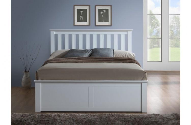 birlea phoenix 4ft small double white ottoman lift wooden. Black Bedroom Furniture Sets. Home Design Ideas