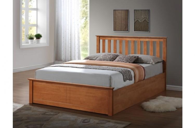 birlea phoenix 4ft small double oak ottoman lift wooden. Black Bedroom Furniture Sets. Home Design Ideas