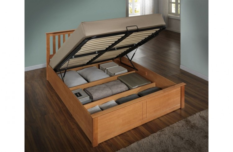 Birlea Phoenix 4ft6 Double Oak Ottoman Lift Wooden Bed Frame