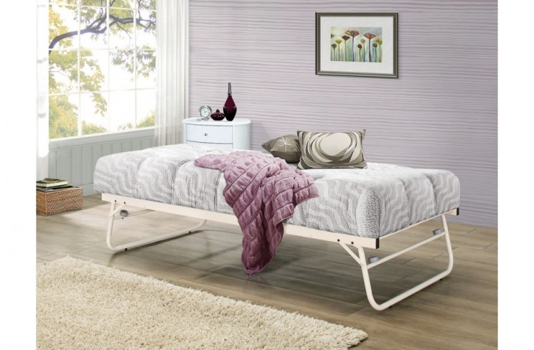 Birlea Trundle Guest Under Bed In Cream Metal By