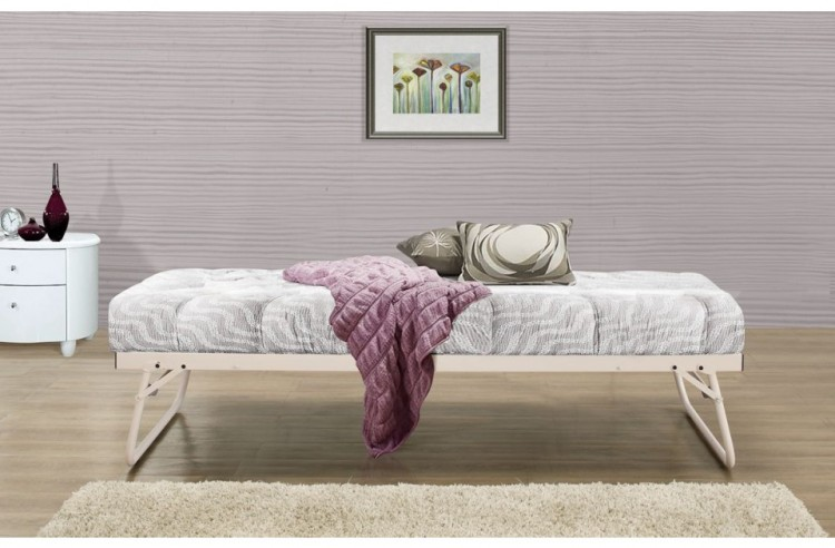 Birlea Milano 3ft Single Cream Metal Day Bed Frame With