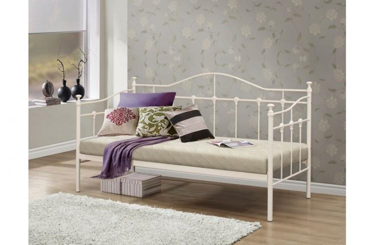 birlea torino 3ft single cream metal day beds. Black Bedroom Furniture Sets. Home Design Ideas