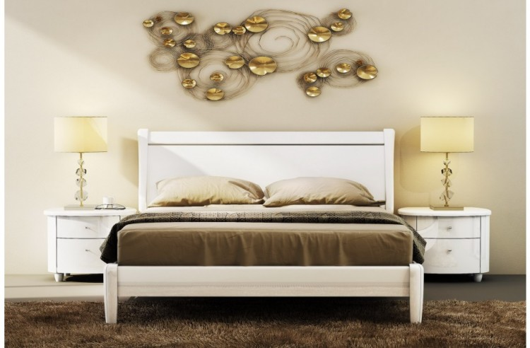 Birlea Aztec White 5ft Kingsize High Gloss Bed Frame by Birlea