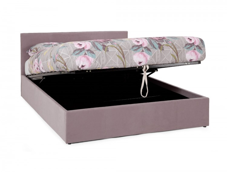 serene evelyn 4ft small double lavender fabric ottoman bed. Black Bedroom Furniture Sets. Home Design Ideas