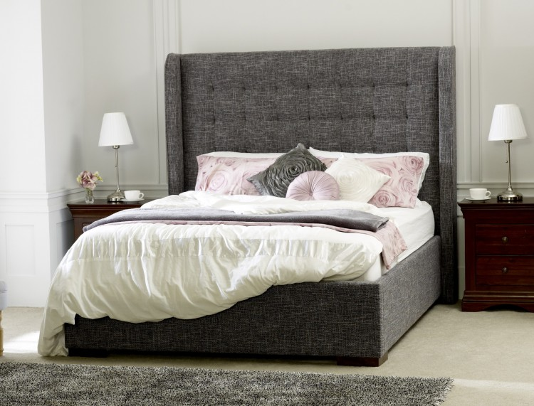 Limelight Aquila 4ft6 Double Slate Fabric Bed Frame By Limelight Beds