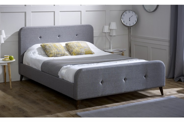 sale retailer a829a 4d561 Limelight Tucana 4ft6 Double Grey Fabric Bed Frame by ...