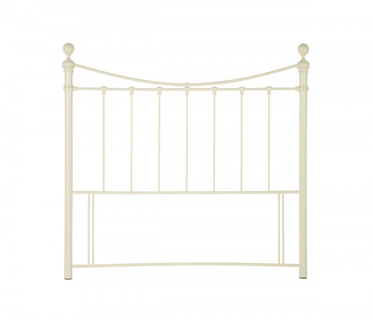 serene ethan ivory gloss 4ft small double metal headboard. Black Bedroom Furniture Sets. Home Design Ideas
