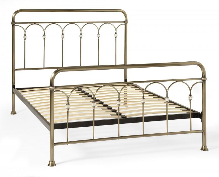 Serene Shilton 6ft Super King Size Antique Brass Metal Bed