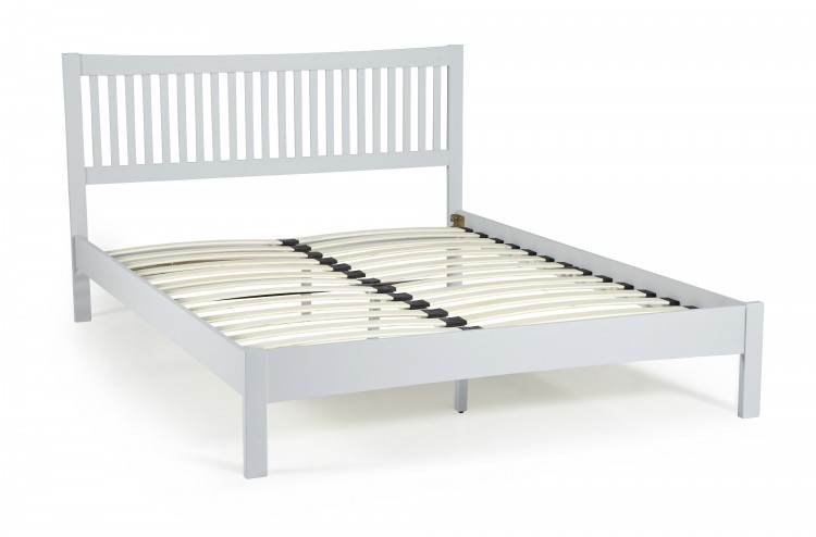 Grey Wooden Double Bed Part - 27: Serene Mya Grey 4ft Small Double Wooden Bed Frame