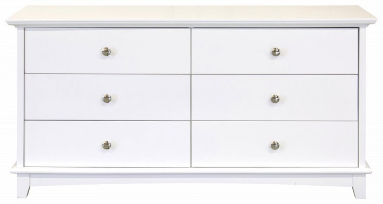 GFW Toulouse White Plus Drawer Chest By GFW - Toulouse bedroom furniture white