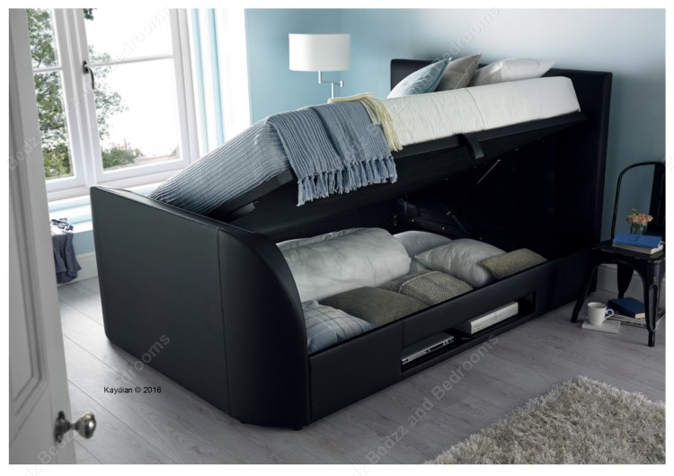 Tv In Bed : Titanium t tv bed frame stylish upholstered from dreams