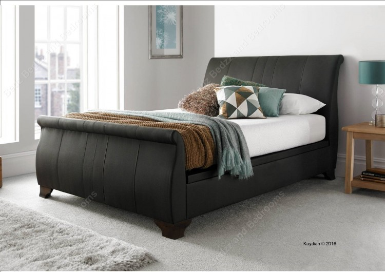mirrors for bedroom kaydian middleton 4ft6 brown leather ottoman bed by 12429