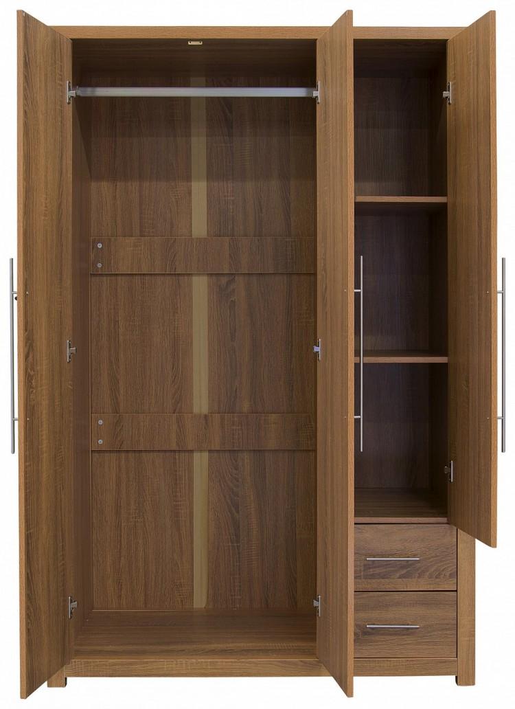Gfw havana 3 door oak finish wardrobe by gfw for Wardrobe finishes