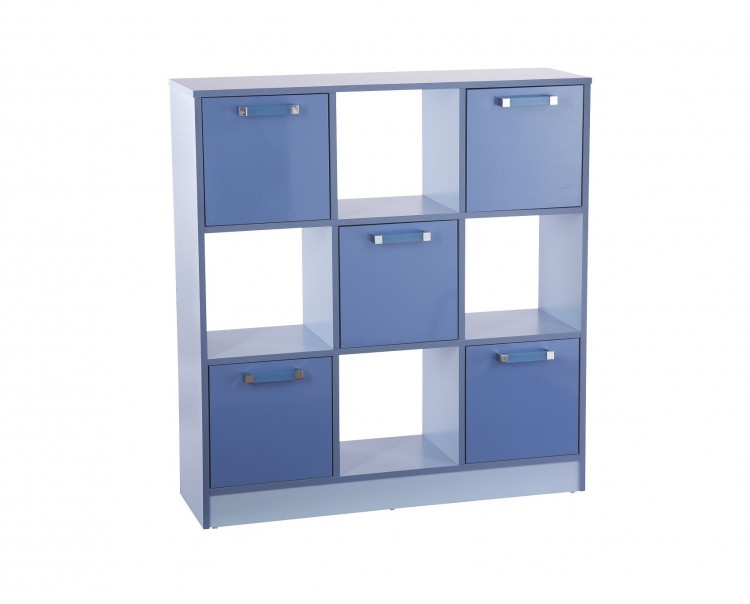 Gfw Ottawa 2 Tones Gloss Blue 3x3 Cube Storage Unit By Gfw