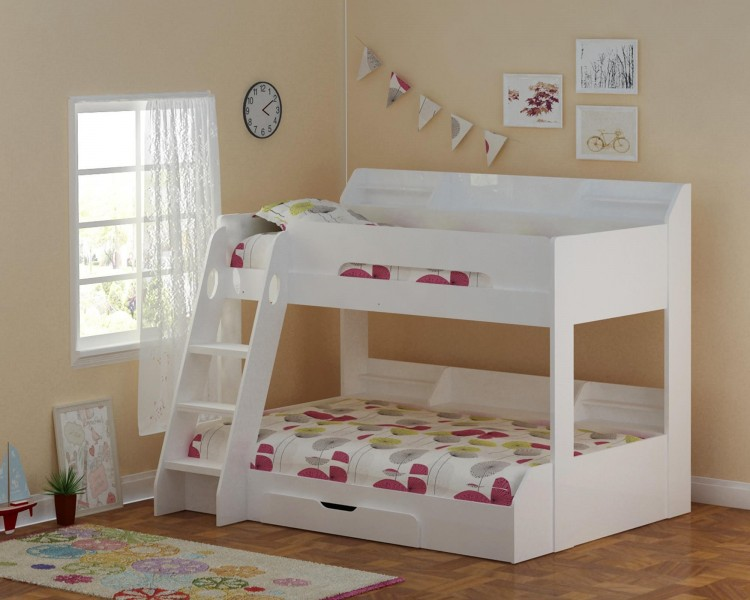 Flair Furnishings Flick White Triple Sleeper Bed By Flair Furnishings