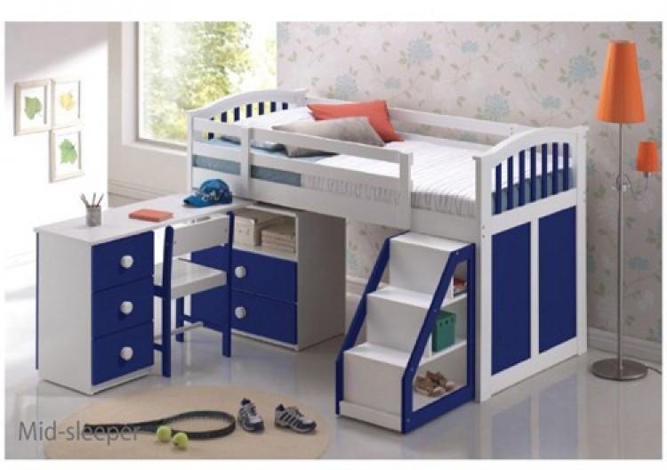 13015c6be058 Sweet Dreams Kipling Ruby Blue 3ft 90cm Mid Sleper