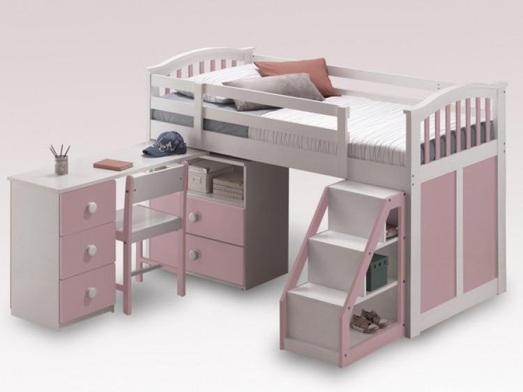 f0f0504368cc Sweet Dreams Kipling Ruby Pink 3ft 90cm Mid Sleeper