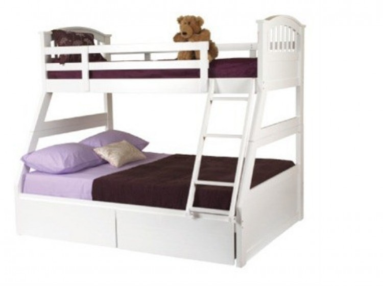 Sweet Dreams Epsom Triple Sleeper Bunk Bed in White by Sweet Dreams