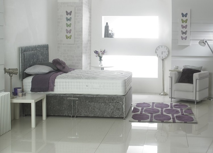 Dura bed cirrus 2000 luxury divan bed 5ft kingsize with for Luxury divan beds