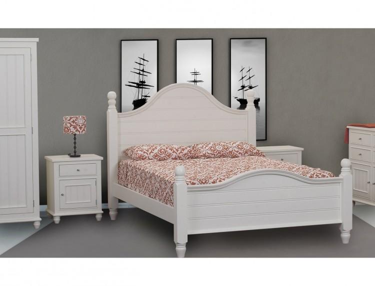 Sweet Dreams Rook 5ft Kingsize Cream Wooden Bed Frame