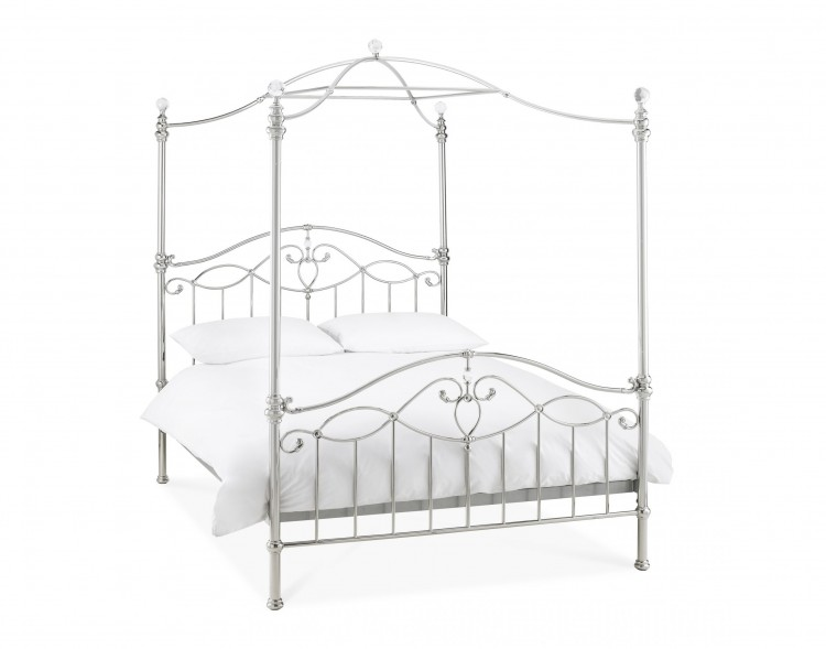 4 Poster Metal Bed Frame.. Queen Bed. Image Of King Size 4 ...