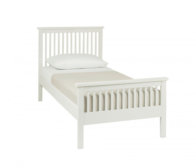 Bentley Designs Atlanta White 3ft Single High Foot End Bed Frame by ...
