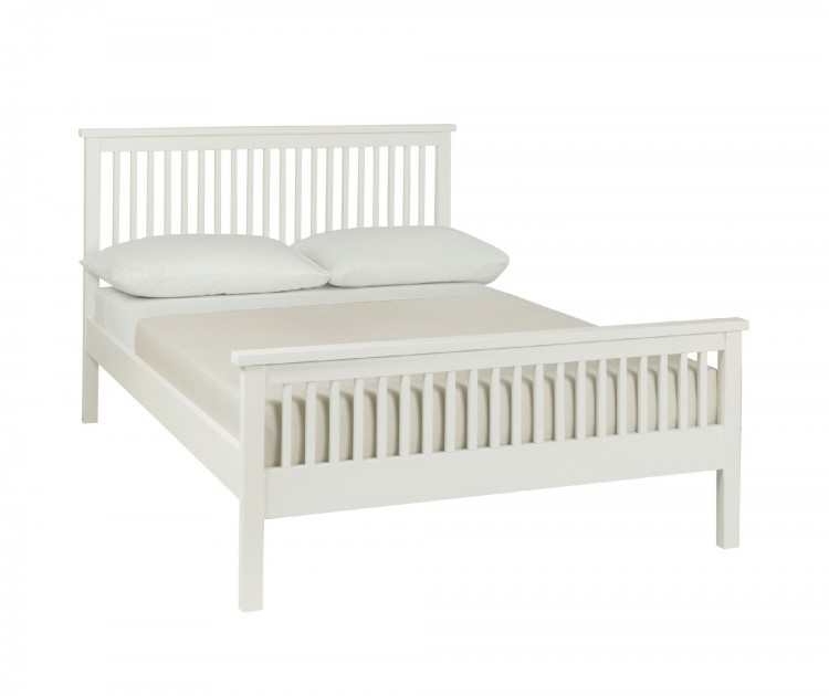 Bentley Designs Atlanta White 4ft Small Double High Foot End Bed ...