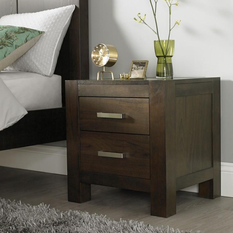 bentley designs lyon walnut 2 drawer nightstand by bentley designs