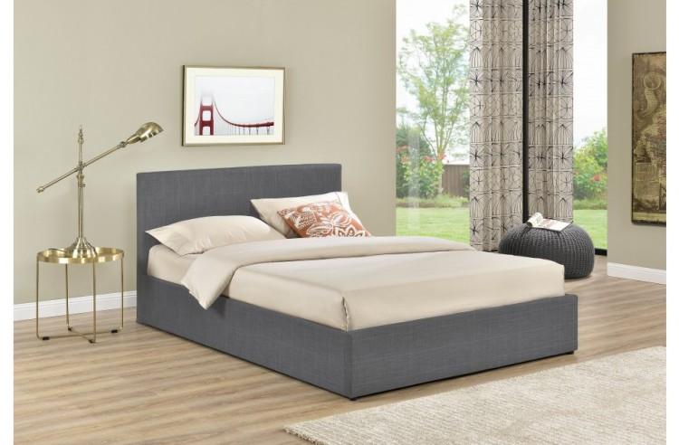 Birlea Berlin 4ft6 Double Grey Check Fabric Ottoman Bed By