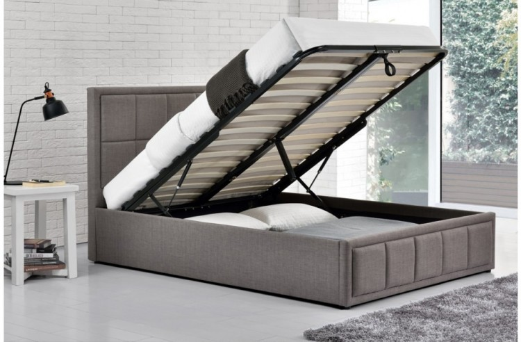 Birlea Hannover 4ft Small Double Grey Fabric Ottoman Bed By Birlea