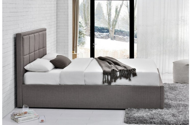 Birlea Hannover 4ft Small Double Grey Fabric Ottoman Bed