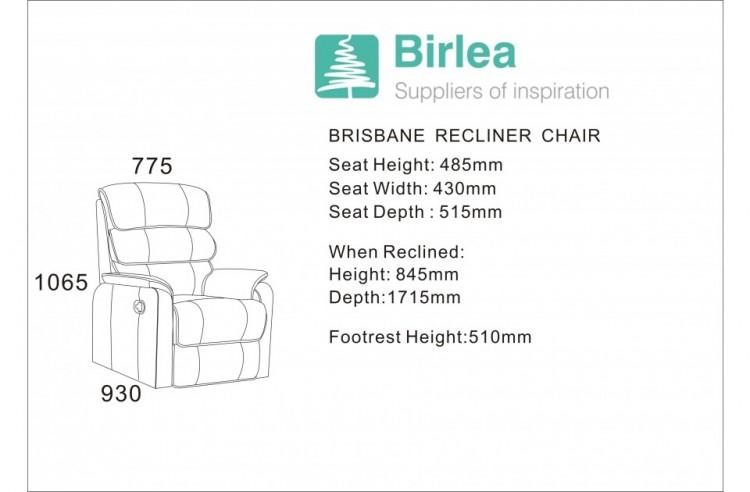 birlea brisbane bronze brown faux leather recliner chair by birlea