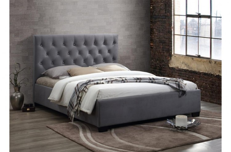Excellent Birlea Cologne 4Ft6 Double Grey Fabric Bed Frame By Birlea Theyellowbook Wood Chair Design Ideas Theyellowbookinfo