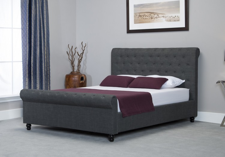 Emporia Oxford 6ft Super Kingsize Grey Fabric Ottoman Bed By Emporia