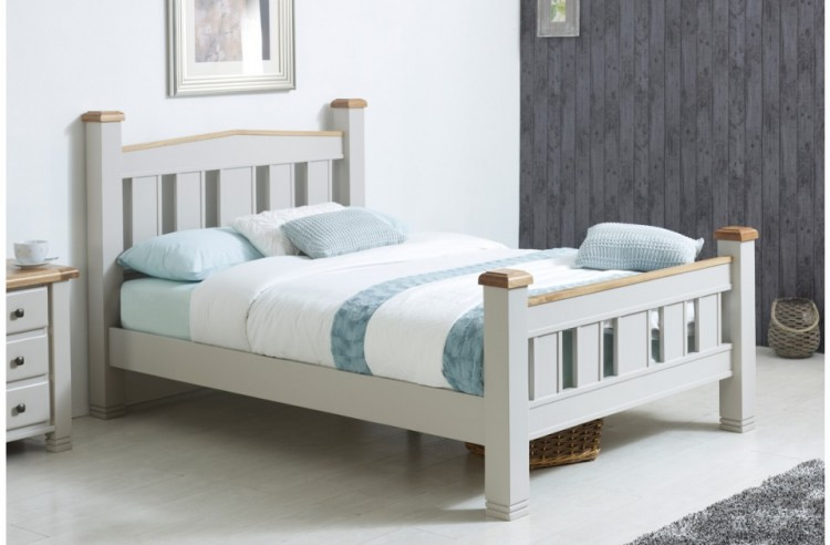 Birlea Woodstock 6ft Super Kingsize Grey Wooden Bed Frame by Birlea