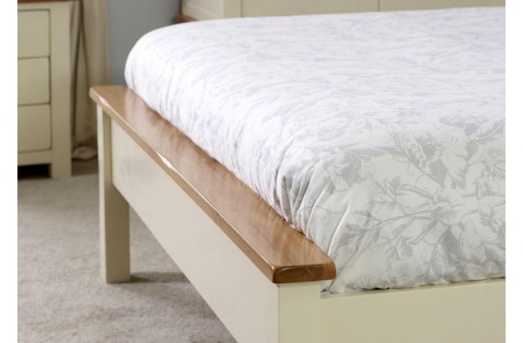 Birlea New Hampshire 5ft Kingsize Cream And Oak Wooden Bed