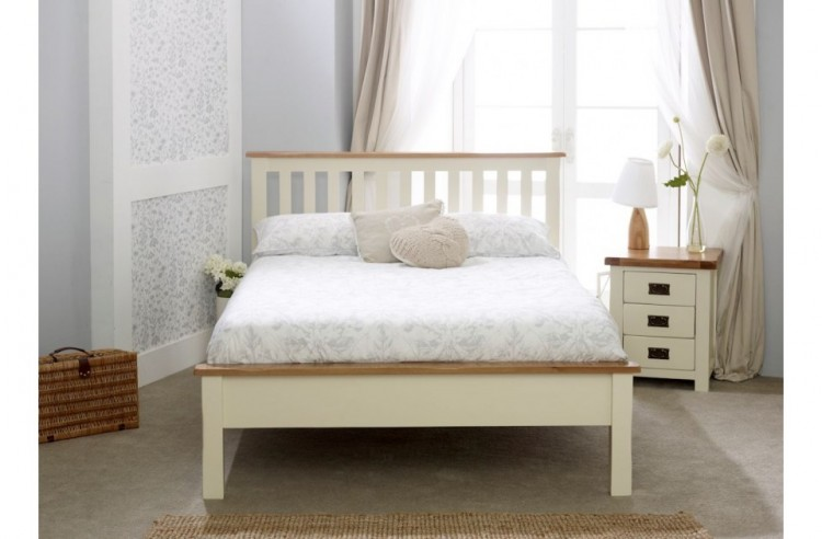 Birlea New Hampshire 5ft Kingsize Cream And Oak Wooden Bed