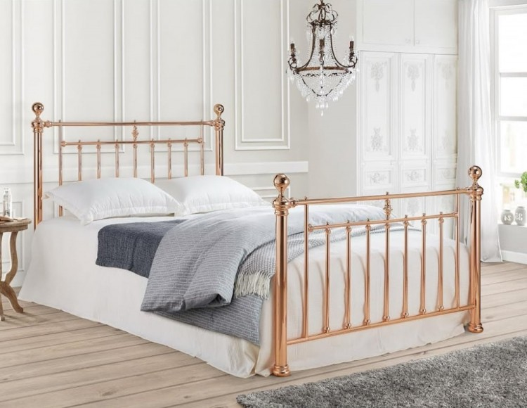time living alexander 5ft kingsize rose gold metal bed 11703 | 14855 time living alexander 4ft6 double rose gold metal bed frame